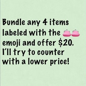 Other - Pay $20 for Bundle of 4 items with the 👛👛 emoji